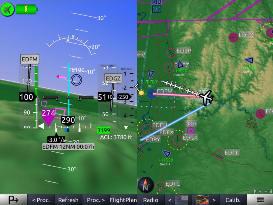 SplitMapSynVisionTraffic Horizon Glass Cockpit1