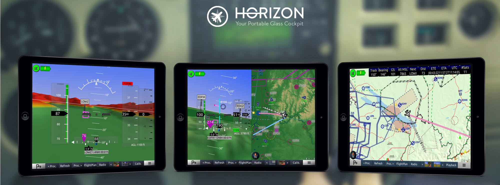 Horizon Portable Glass Cockpit Mockup v4